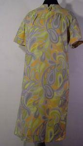 Vintage Mod 60s twiggy dress paisley yellow Orange